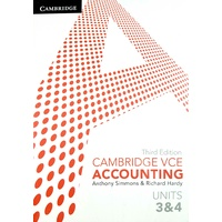 Cambridge VCE Accounting Units 3 & 4