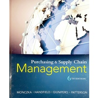 Purchasing and Supply Chain Management 6e